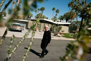 Architect William Krisel Walking in Twin Palms
